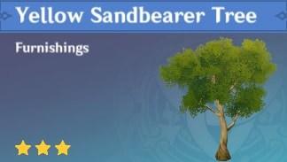 Furnishing Yellow Sandbearer Tree