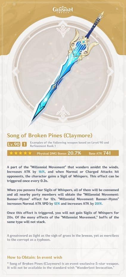 Song of The Broken Pines Level 90 Refinement 1