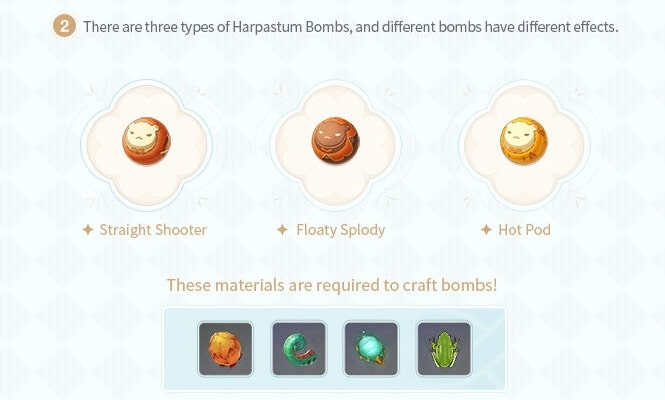 3 types of Harpastum Bombs And material required to craft
