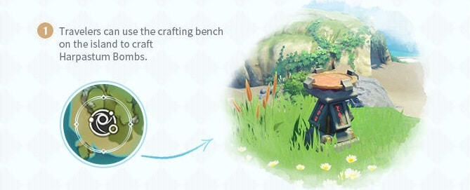 Craft Harpastum Bombs Using Crafting Bench In The Island