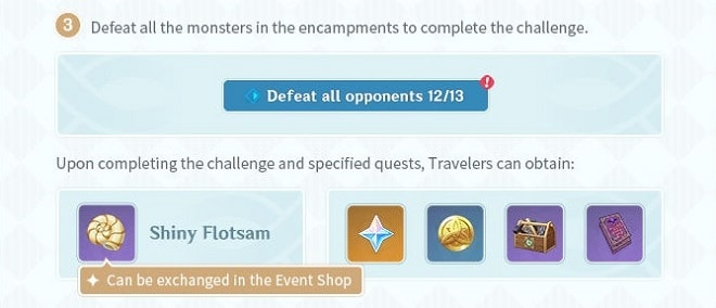 Earn Shiny Floatsam and Exchange it in the Event Shop