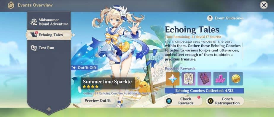 Echoing Tales Event Guide