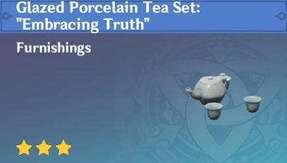 Glazed Porcelain Tea Set Embracing Truth