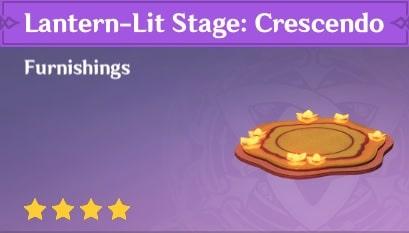 Furnishing Lantern-Lit Stage Crescendo