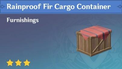 Rainproof Fir Cargo Container