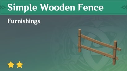 Furnishing Simple Wooden Fence