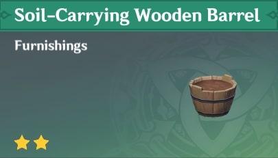 Soil-Carrying Wooden Barrel