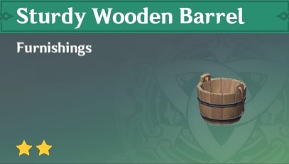 Furnishing Sturdy Wooden Barrel