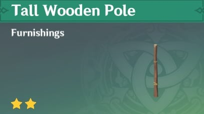 Tall Wooden Pole