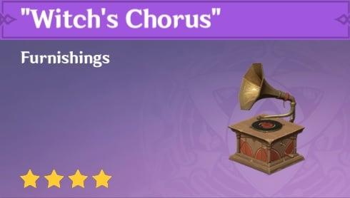 Furnishing Witchs Chorus