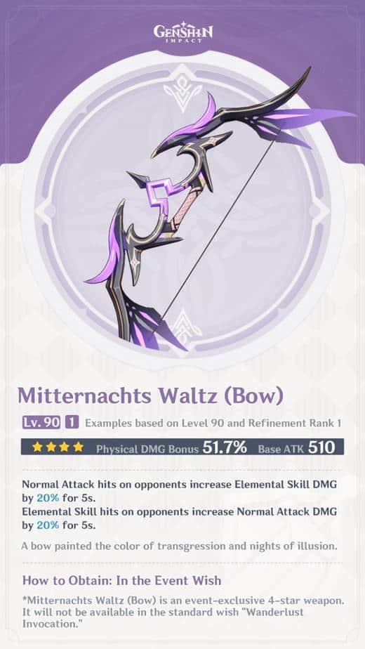 Mitternachts Waltz Level 90 Refinement 1 Stats