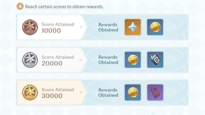 Reach Certain Scores To Obtain Rewards