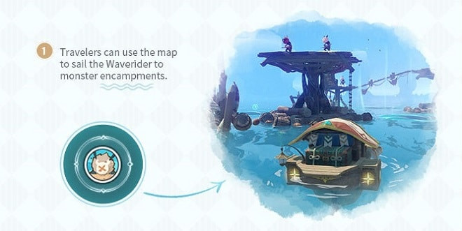 Sail The Waverider To Monster Encampments