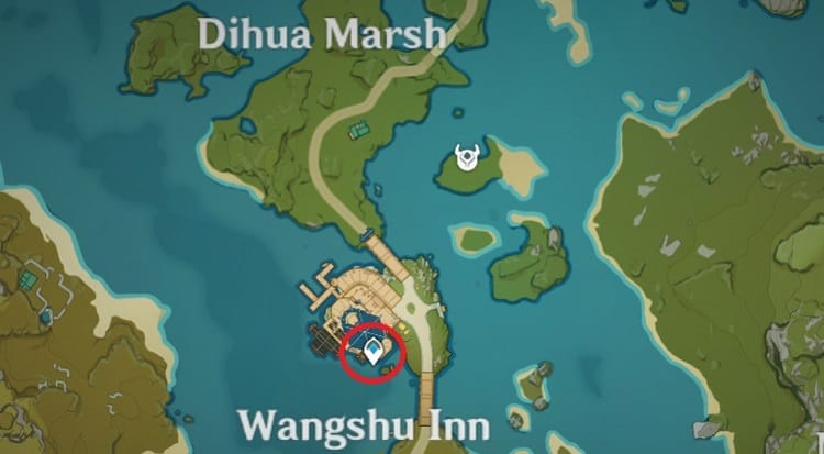 Wangshu Inn Location In Liyue