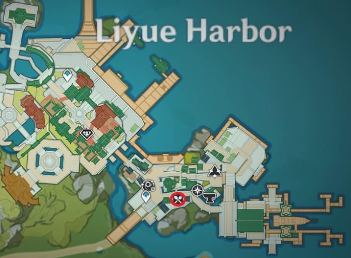 Wanmin Restaurant Location In Liyue Harbor