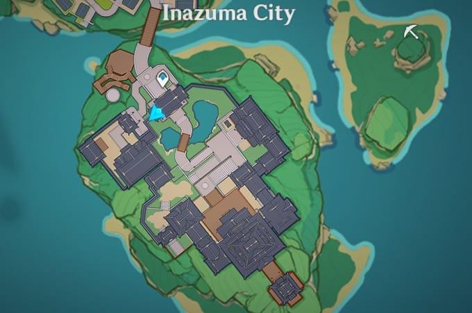 2 Tenryou, Inazuma City Map