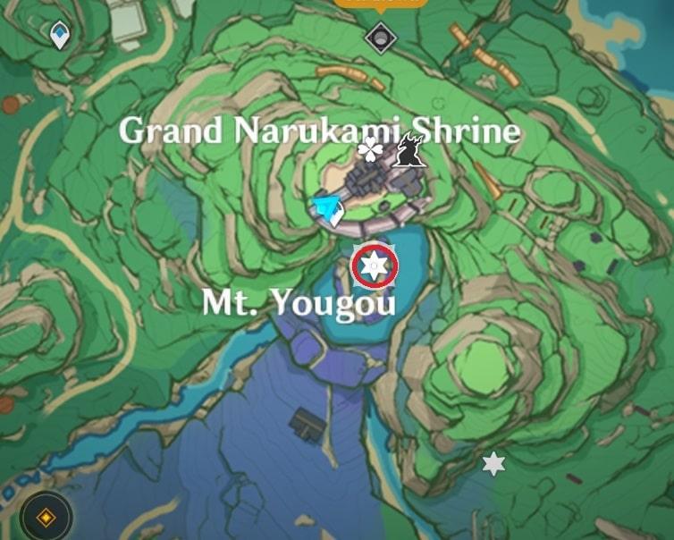 20 Mt Yougou South Of Grand Narukami Island Map