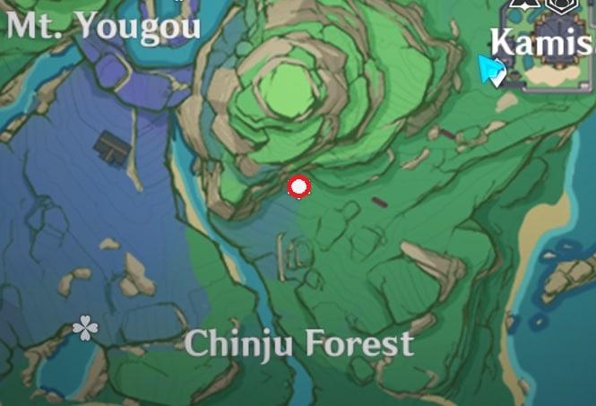 26 Electroculus Floating Above Tanuki Statues Map