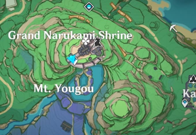5 Grand Narukami Shrine, Mt. Yougou Map