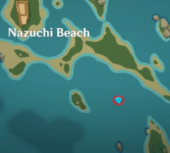 66 Electroculus Floating Between Rock In The Beach Map