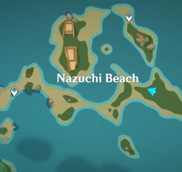 67 Ship Wreckage In The Beach Map