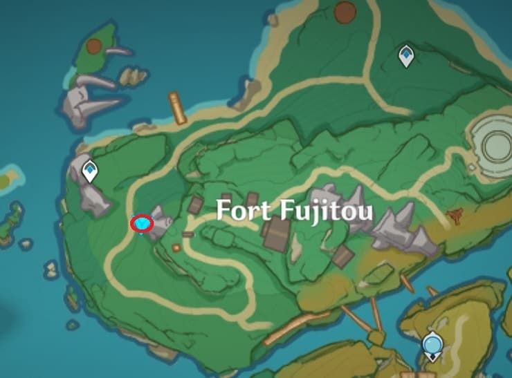 72 Floating Near Fort Fujitou Map