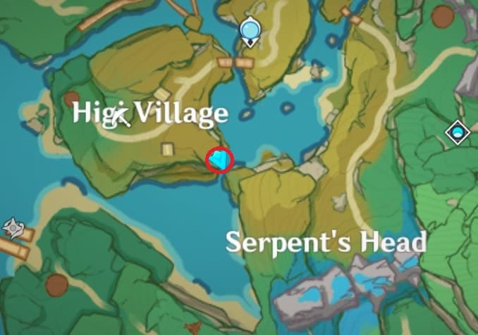 78 Electroculus Behind Small Shrine Near Overlook Serpent Head Viewpoint Map