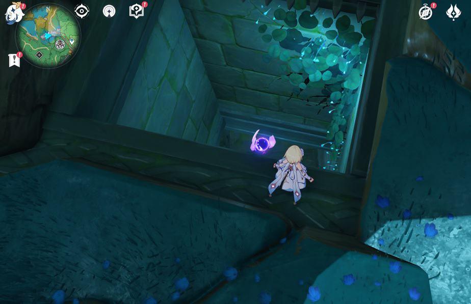 90 Electroculus Inside Serpent Head Beneath Locked Gate Unlock The Gate By Guiding 2 Electro Seelie In Game