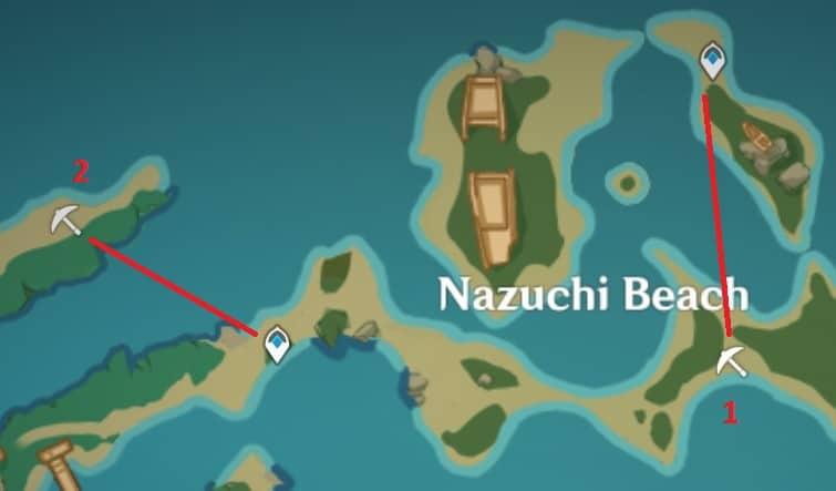 Amethyst Lump Farming Locations In Nazuchi Beach
