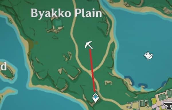 Amethyst Lump locations in Byakko Plain map