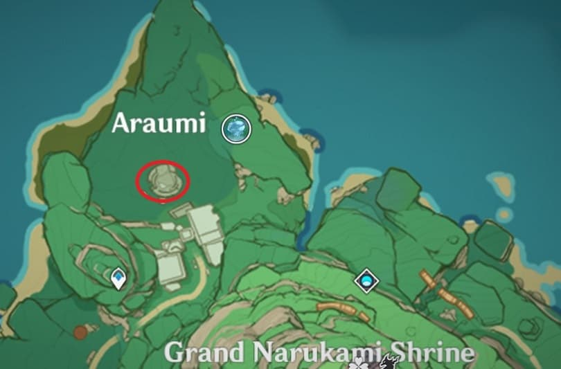 Entrance To Underground Ruin Can Found In Araumi