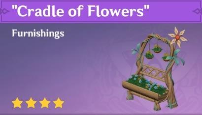Furnishing Cradle Of Flowers