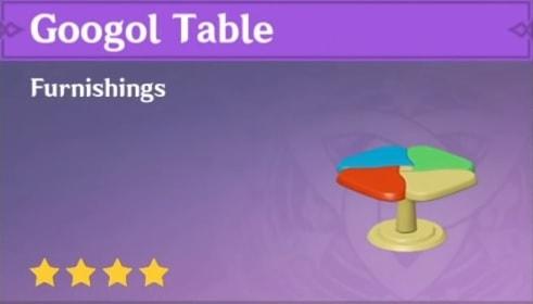Furnishing Googol Table