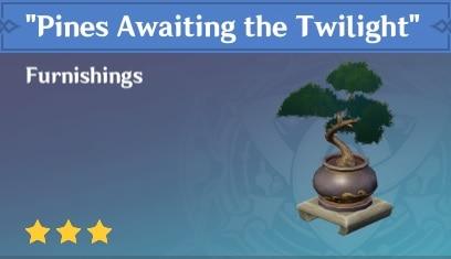 Furnishing Pines Awaiting The Twilight
