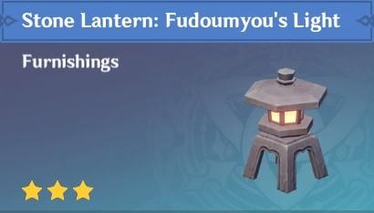 Furnishing Stone Lantern Fundoumyou's Light