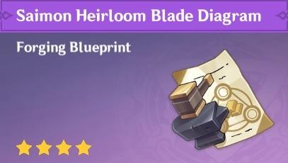 Saimon Heirloom Blade Diagram, Amenoma Kageuchi Blueprint