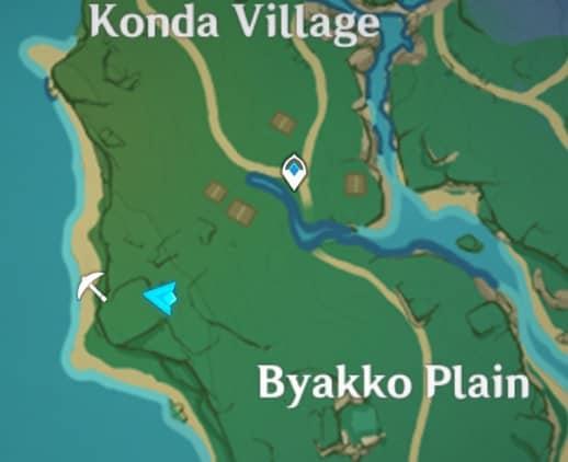 Second Old Stone Slate In Underground Konda Village Map