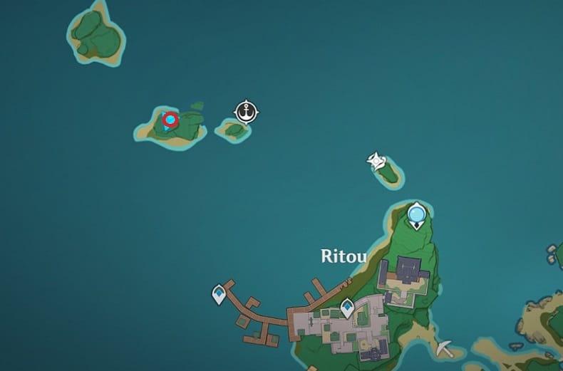Shrine of Depth In Small Island Near Ritou Map