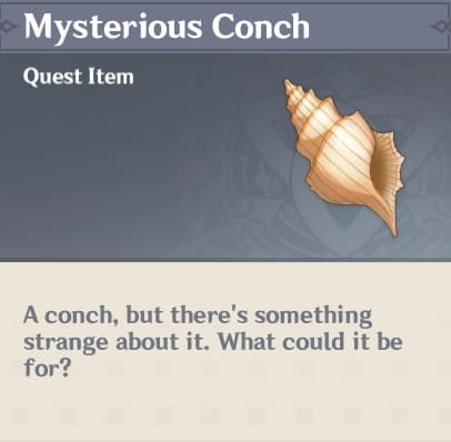 Takashi Mysterious Conch