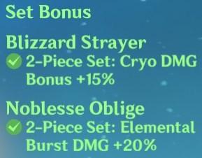 2 Blizzard + 2 Noblesse Set Bonus