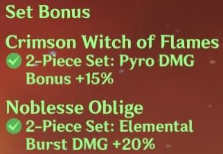 2 Crimson Witch + 2 Noblesse Set Bonus