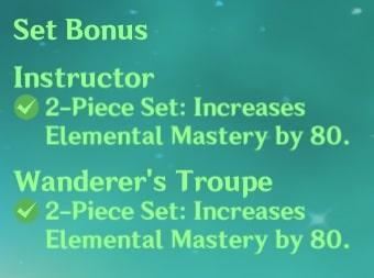 2 Instructor + 2 Wanderer Set Bonus