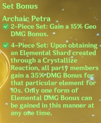 4 Archaic Petra Set Bonus