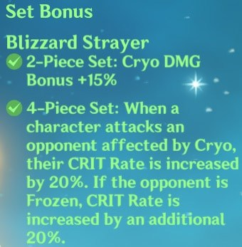 4 Blizzard Strayer Set Bonus