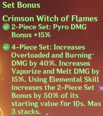 4 Crimson Witch of Flames Set Bonus