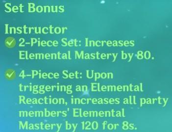 4 Instructor Set Bonus