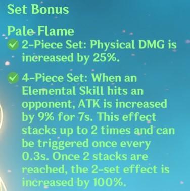 4 Pale Flame Set Bonus