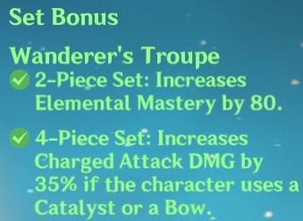4 Wanderer's Troupe Set Bonus