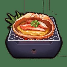 Cooking Crab Roe Kourayaki