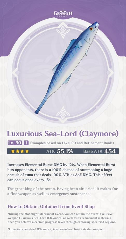 Luxurious Sea Lord Claymore Level 90 Refinement 1 Stats